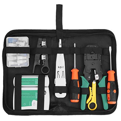 Comprobador de cables de red, accesorios de red Easy Carry Reparación de cables de red Kit de herramientas de mantenimiento Juego de mantenimiento para cableado de red