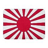 Fußmatten Bad Teppiche Outdoor/Indoor Fußmatte Rot Japan Japanische Flagge Kaiserarmee Rising Sun Symbol Tokio Sonnenaufgang Badezimmer Dekor Teppich Badematte