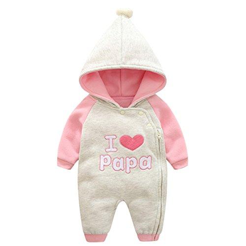 Bebone Baby Kleidung Mädchen Winter Strampler I Love Mama I Love Papa (I Love Papa 2, 12-18Monate/80cm)
