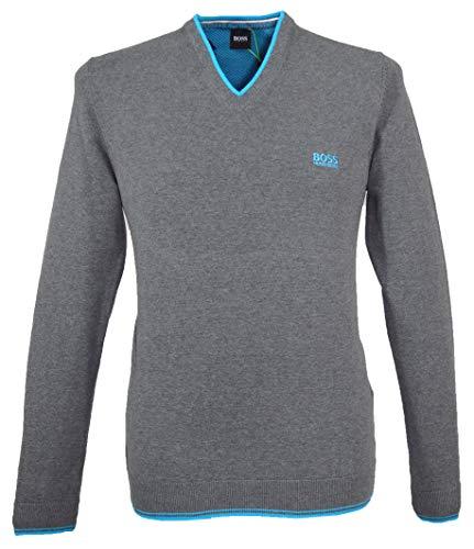 Hugo Boss Vimex_W19 - Jersey de cuello en V para hombre, color gris (031)