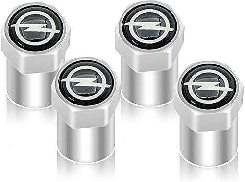 4 Stück Aluminium Autoreifen Ventilkappen Auto Rad Staubschutzkappe Mit Logo Emblem, für Opel Astra H G J Insignia Mokka Zafira Corsa Vectra C D