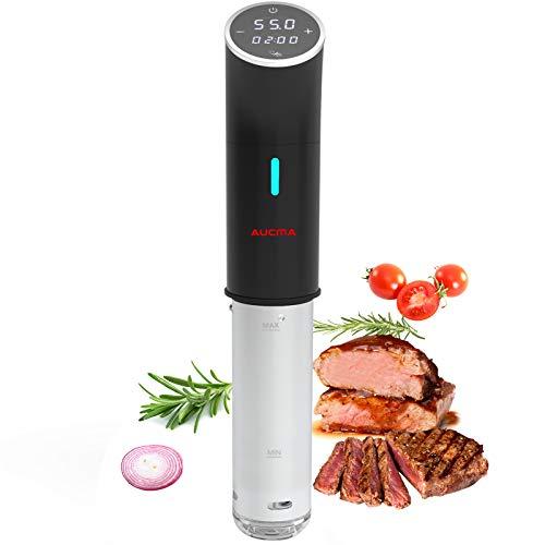 AUCMA Sous Vide Cocina Baja Temperatura,Vaporera para cocinar al vacío 1200W, Circulación en...