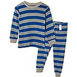 Unifriend 9分袖 9分丈 長袖 ベビ キッズ 男児 綿100% ルームウェア パジャマ ねまき 上下セットネービーST -90cm