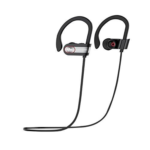 AUDIOEXTRA イヤホン ワイヤレスBluetooth 4.1 + EDR, CSRチップ+ CVCノイズキャンセリング+ DSPノイズリダクション、ソフトイヤーフック 8時間音楽再生 IPX6 耐汗性 耐水性 AE-SBM9
