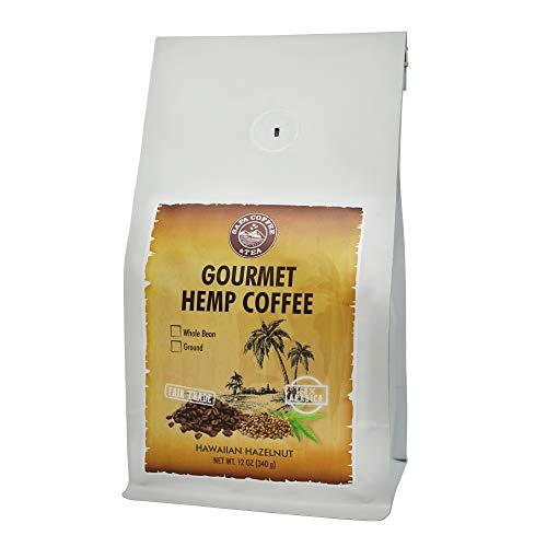 Sapa Hemp Coffee Hawaiian Hazelnut - Fair Trade 100% Arabica 12 oz Whole Bean