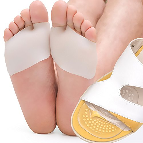 Skyfoot's Ball-of-Foot Pads and Gel Forefoot Cushions Metatarsal Forefoot Pads - 4 Pieces