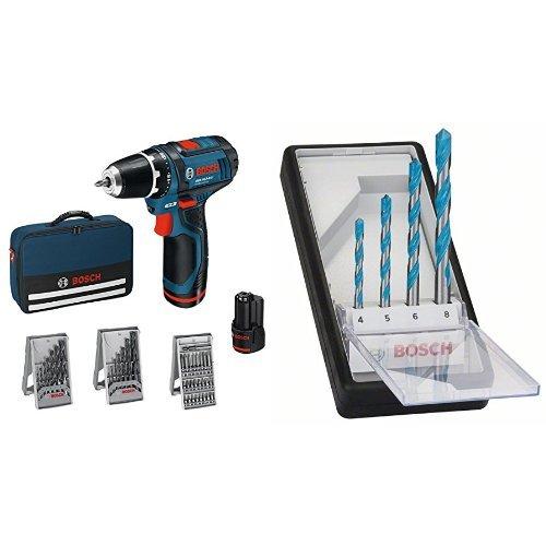 Bosch proffesional GSR 10,8-2-LI - Atornillador taladrador a batería + Juego de...