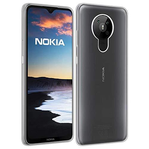 32nd Clear Gel Series - Gel Transparente in TPU Silicone Clear Case Cover per Nokia 5.3 (2020), Custodia Ultra Slim Cristallo Gel - Transparente