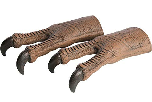 Rubie's Jurassic World T-Rex Latex Hands, As Shown, One Size