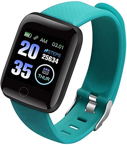 TYUI Reloj inteligente para hombres y mujeres con pantalla de color de 1.3 pulgadas, pulsera deportiva/monitoreo del sueño/recordatorio de mensajes de aplicación reloj impermeable verde