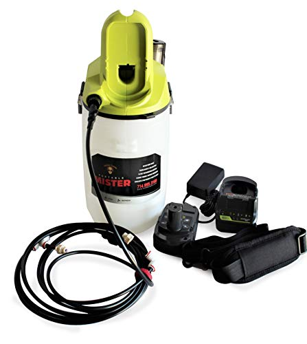 Mister Coolz 18 Volt 2 Gallon Outdoor Mister, Portable Mister, Cordless Mister, Battery Powered Rechargeable Mister, Water Mister, Outdoor Misting System, Cooling Outdoor (Battery & Charger Included)