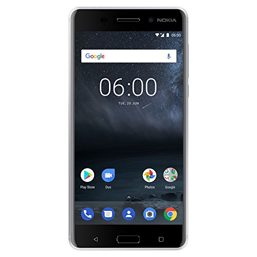 Nokia 6 TA-1025 32GB Unlocked GSM Android w/ 16MP Camera - Silver