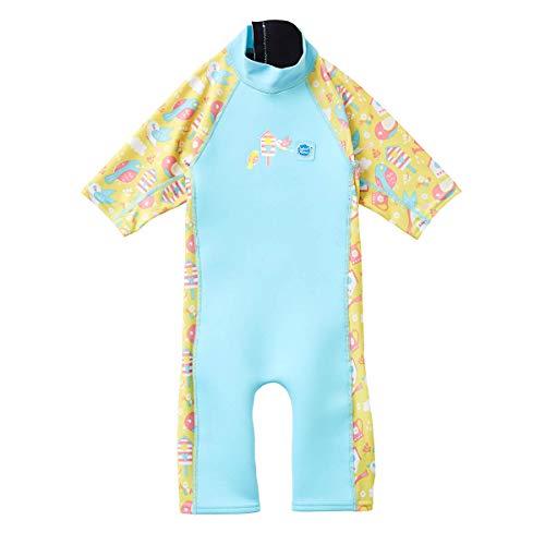 Splash About Traje de Neopreno Unisex para niños con Sol y mar, Unisex niños, UVCGB1, Pájaros de jardín, 1 a 2 años