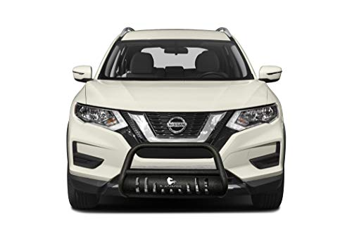 Black Horse Off Road Textured Bull Bar with Skid Plate Compatible with 14-20 Nissan Rogue