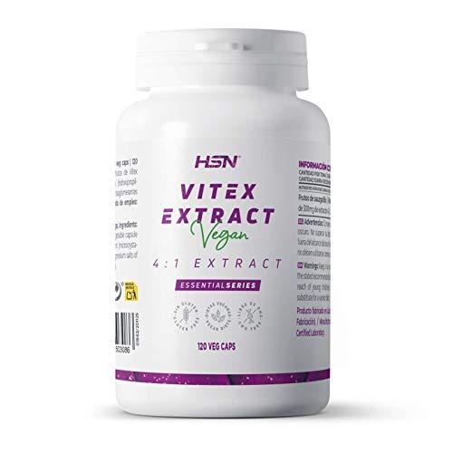 Vitex Agnus Castus 300 mg de HSN | Apoyo a la Salud Femenina | Extracto de Sauzgatillo 4 veces más concentrado | Sin Gluten OGM Ni Lactosa | Vegano | 120 Cápsulas Vegetales