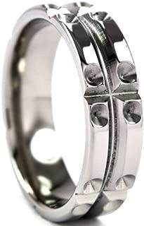 Titanium Ring with Milled Matrix Designs, Men's Rings, Titanium Band