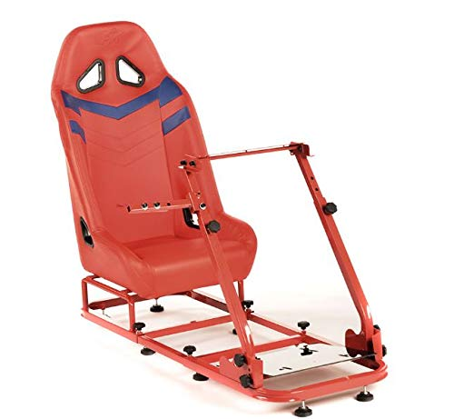Monza GTO Performance Game Seat voor pc en game consoles in rood & grijs hard dragen kunstleer