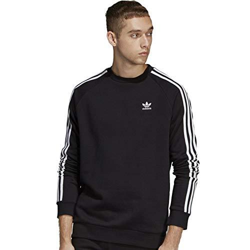 adidas Originals Men's 3-Stripes Crew, black, Small