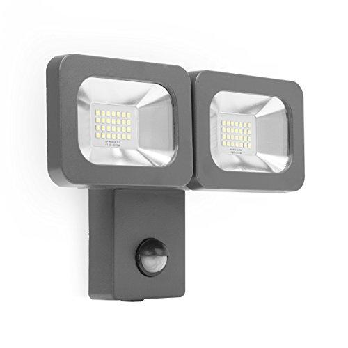Smartwares FLD2-A14B LED-spot, 2 x 11 W, 1600 lumen, bewegingsmelder