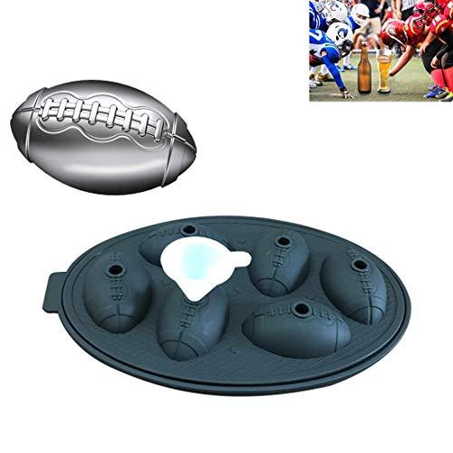 XGQ Forma Rugby 3D Bandeja Molde Partido de la Barra de Chocolate de Silicona Bandejas Herramienta del Molde de Cocina (Negro) (Color : Black)