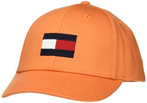 Tommy Hilfiger Big Flag Cap Gorra, Naranja, X-Large (Talla del Fabricante:) para Bebés