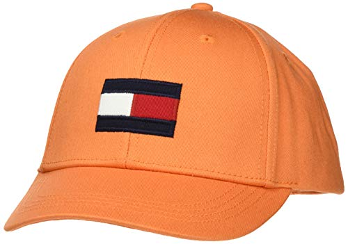 Tommy Hilfiger Unisex Baby Big Flag Cap Kappe, Orange (Russet Orange 815), S (Herstellergröße:S)
