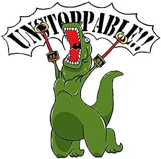 LA STICKERS Unstoppable T-Rex - Sticker Graphic - Auto, Wall, Laptop, Cell, Truck Sticker for Windows, Cars, Trucks