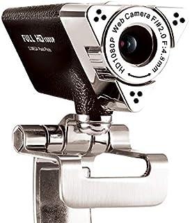 YIJ-YIJ Webcam with Microphone, PC Webcam, 1080P Full HD Webcam USB Desktop,Laptop Webcam Live Streaming Webcam with Micro...