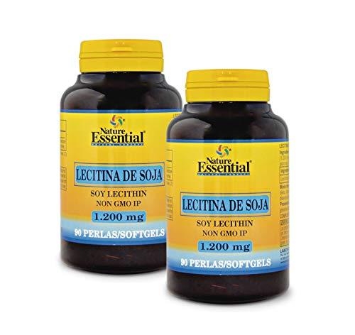 Nature Essential Lecitina de soja 1200 mg - 90 perlas, Pack 2 unidades