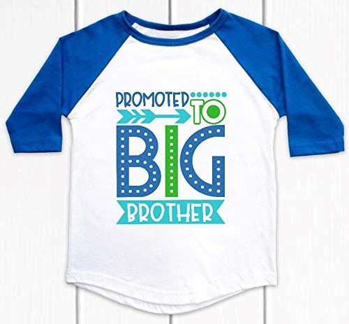 4T Promoted to Big Brother Blue Announcement Regular discount Raglan Pregnancy Easy-to-use -