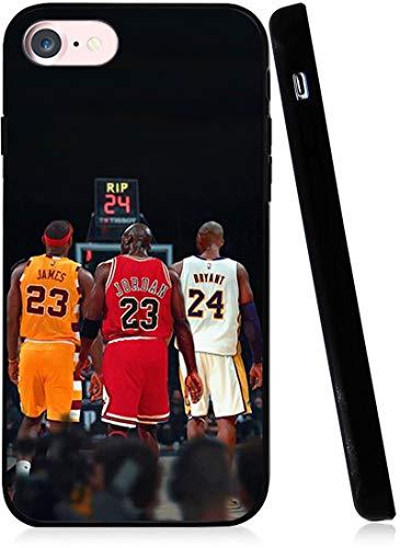 Legendäres Basketball-Thema entworfen für iPhone 7/8/SE 2020 Hülle, Mode Slim Schutzhülle Anti-Kratzen Premium TPU Slim Fit Soft Cover Kompatibel mit iPhone 4,7 Zoll Hülle (Lebron-Jordan-Kobe)