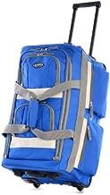 Olympia 8 Pocket Rolling Duffel Bag, Royal Blue, 22 inch