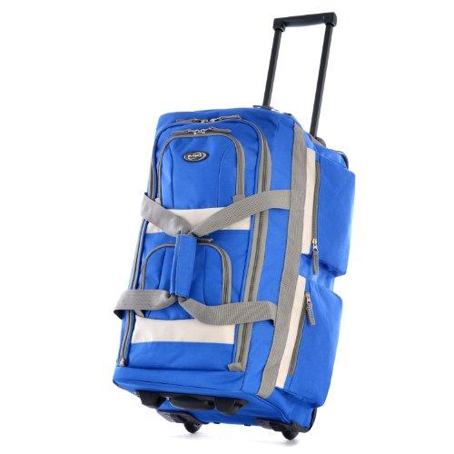 Olympia 8 Pocket Rolling Duffel Bag, Royal Blue