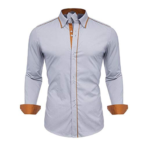 N\P Men's Shirts Men's Shirts Plain Men's Shirts Made of Cotton with Long Sleeves