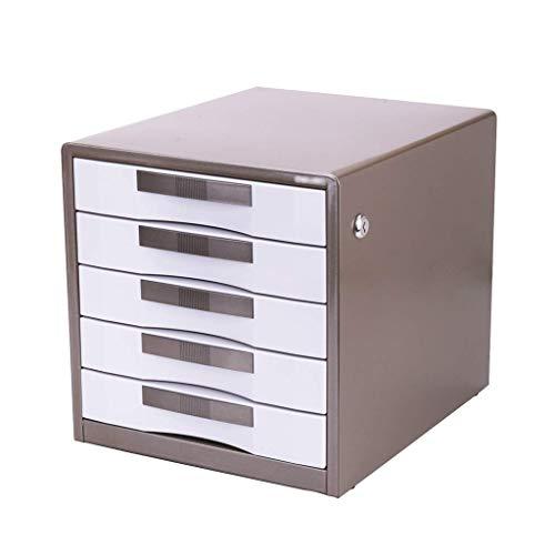 Muebles para el hogar Clasificador de cajones Gabinete de limpieza de escritorio Cajón cerrado Gabinete de datos Estantes para periódicos Estuche para papelería Gabinete para recibos de oficina Cin