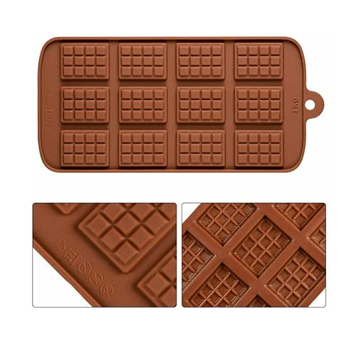 Selecto Bake - Moule à chocolat en silicone, marron (12 bars)