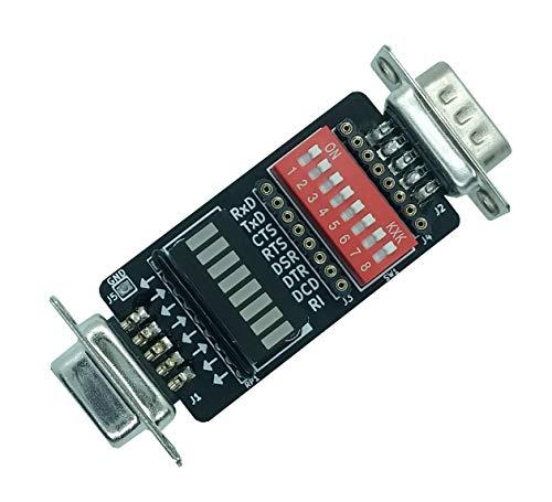 GGLABS T232 - Mini RS-232 DB9M-DB9F Break-Out Tester/LED Monitor