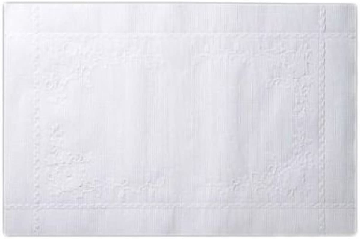 AEP Lapaco 200 003 10 X 14 White Embossed Paper Placemat 1000 CS