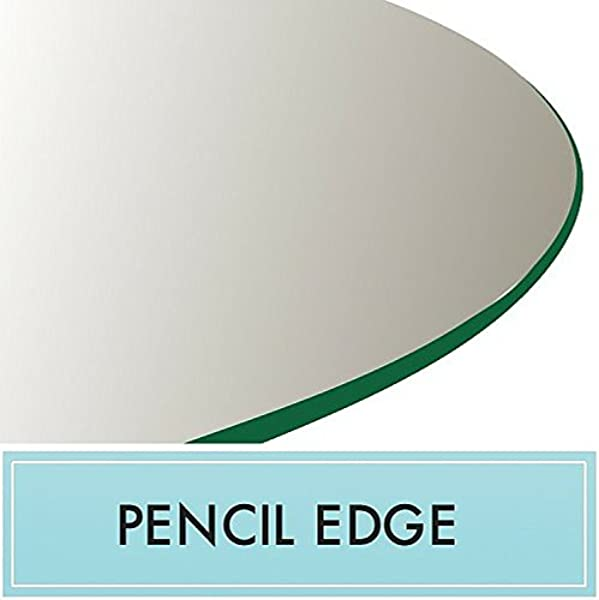 24 Round Tempered Glass Table Top 3 8 Thick With Pencil Edge