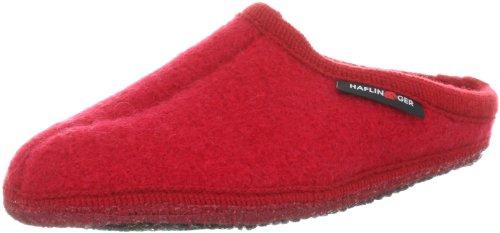 Haflinger Walktoffel Alaska Pantoffeln Unisex-Erwachsene, Rot (Ziegelrot 85), 36 EU