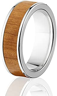 New Olive Wood Rings, Exotic Hard Wood Wedding Band w/ Comfort Fit
