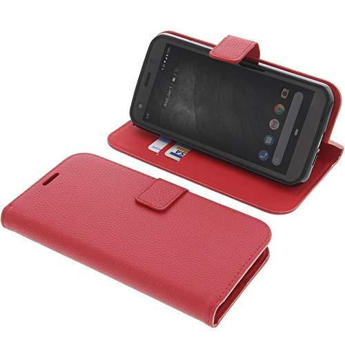 foto-kontor Tasche für CAT S52 Book Style rot Schutz Hülle Buch
