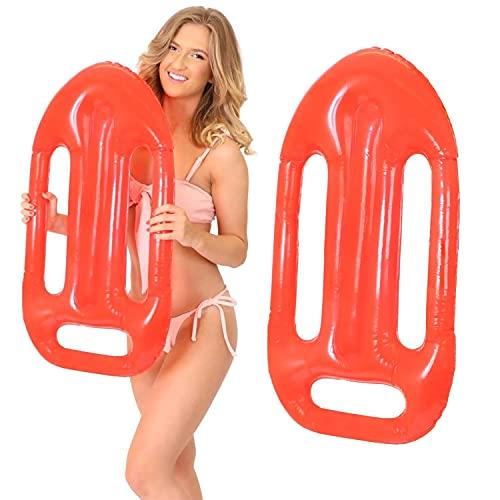 ILOVEFANCYDRESS - Juego de flotadores hinchables para relojes de pulsera (24 unidades), color rojo