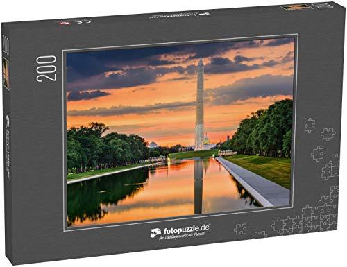 Puzzle 200 Teile Washington Monument on The Reflecting Pool in Washington, DC - Klassische Puzzle, 1000/200/2000 Teile, in edler Motiv-Schachtel, Fotopuzzle-Kollektion 'USA'
