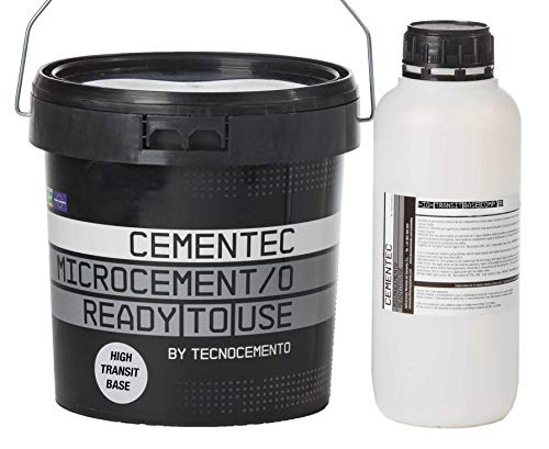CEMENTEC Microcemento listo al uso HIGH TRANSIT BASE Ready to use (5,5 kg, Gris artico)