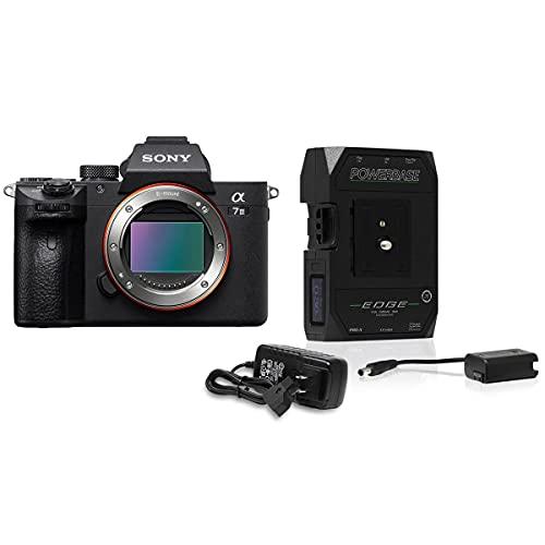 Sony Alpha a7 III Mirrorless Digital Camera Body, Bundle with Core SWX PowerBase V-Mount Battery