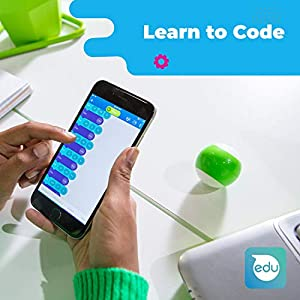 """Sphero Mini (Blue) App-Enabled Programmable Robot Ball - STEM Educational Toy for Kids Ages 8 & Up - Drive, Game & Code with Sphero Play & Edu App, 1.57"""""""
