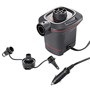 Intex 66636 - Hinchador eléctrico con adaptador para coche 12V Quick Fill 9