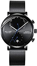 Watch for Men, Fashionable Classic Minimalist Watch Men's Waterproof Wrist Watch with Stainless Steel Strap