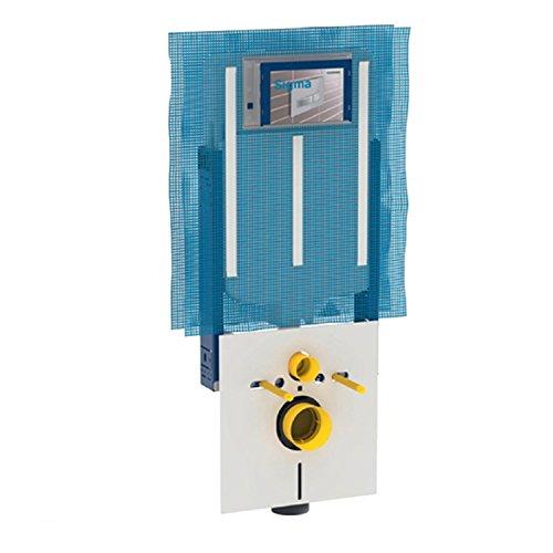 Geberit 110.791.00.1 Modulo per WC sospeso con Cassetta di risciacquo da Incasso Sigma 8 cm per aspiratore dei Cattivi odori collegato a Ventilazione Esterna